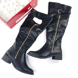 Refresh | Vegan Leather Tall Black Boots